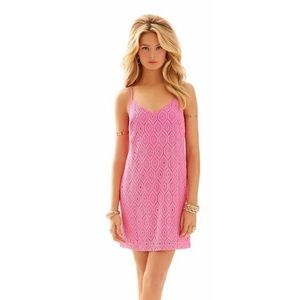 Lilly Pulitzer Pop Pink Dusk Mini Racerback Dress